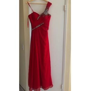 Red Long Formal Dress
